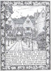 News from Nowhere frontispiece 1891 by William Morris