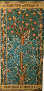 The Woodpecker tapestry designed and woven by William Morris in 1885