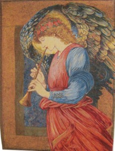 An Angel tapestry by Edward Burne-Jones