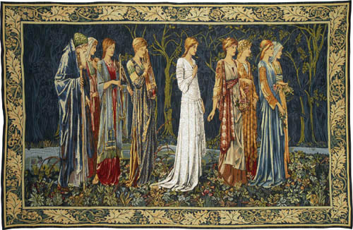 Wedding of Psyche tapestry wallhanging - The Ceremony tapestry