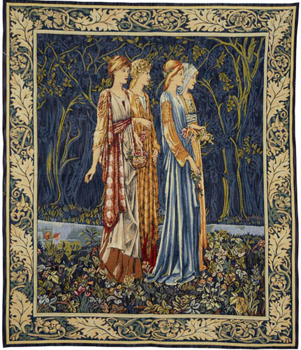 The Muses tapestry from The Wedding of Psyche tapestry by Edward Burne-Jones