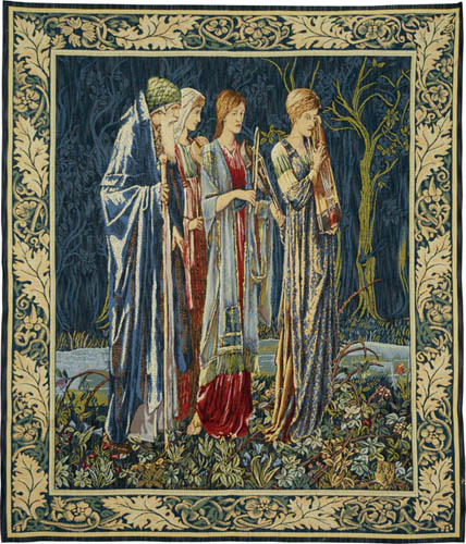 Wedding of Psyche Musicians tapestry - Burne-Jones