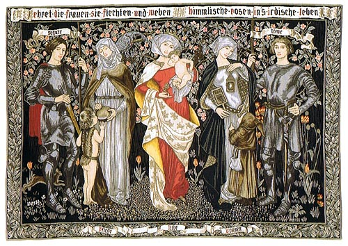 Women's Worth tapestry by Marianne Stokes also known as Honour the Women