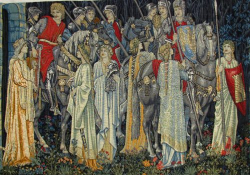 The Arming and Departure of the Knights - Camelot tapestry