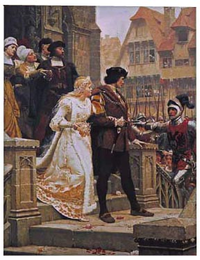 Call to Arms tapestry, no border - Edmund Blair Leighton