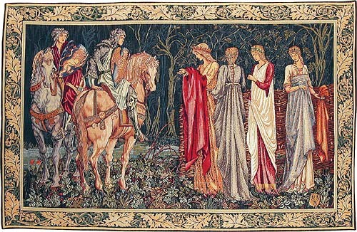 The Departure of the Knights tapestry from the Quest for the Holy Grail tapestries