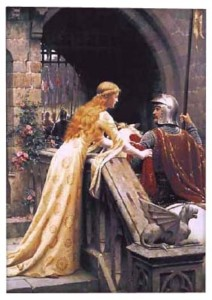 God Speed, no border, tapestry is from the painting by Edmund Blair Leighton