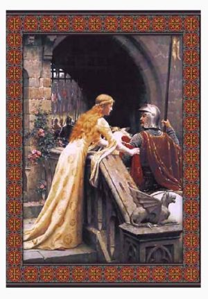 God Speed tapestry by Edmund Blair Leighton, a Belgian Pre-Raphaelite tapestry