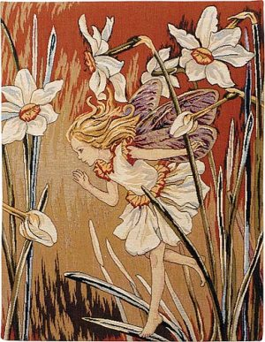 The Narcissus Fairy tapestry from the Flower Fairies