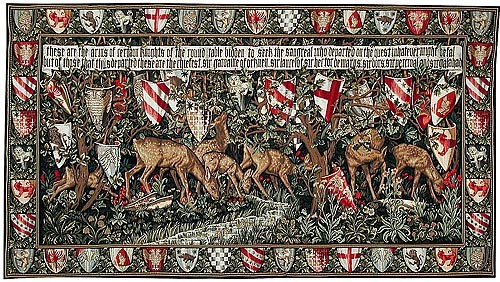 The Verdure with Deer and Shields tapestry - Burne-Jones
