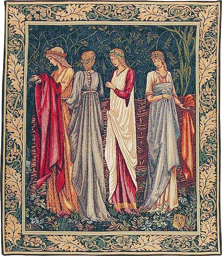 The Ladies of Camelot tapestry - from the Quest for the Holy Grail tapestries
