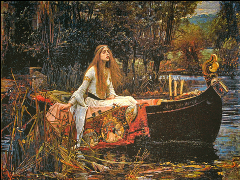 The Lady of Shalott tapestry is a Pre-Raphaelite tapestry woven in Belgium