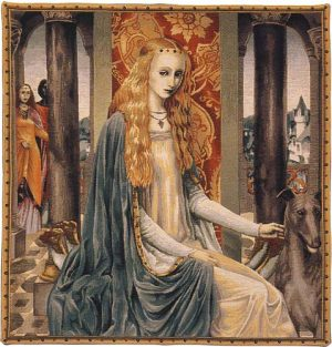 The Lady tapestry - Camelot wall tapestries