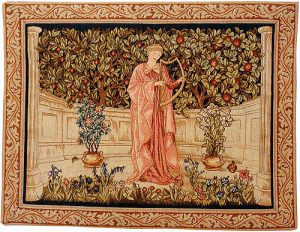 The Minstrel tapestry, Arts and Crafts wall tapestry from Morris & Co in 1899