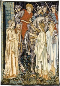 Arming and Departure of the Knights tapestry is from the Quest for the Holy Grail tapestries