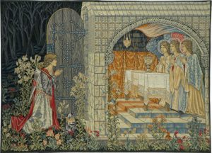 Vision of the Holy Grail tapestry, right - Burne-Jones