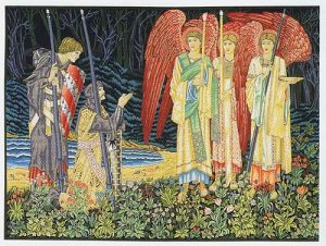 Vision of the Holy Grail tapestry, left - by Edward Burn-Jones