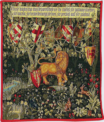 The Quest - Lion tapestry - Verdure with Deer and Shields