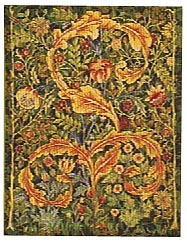 William Morris portiere, small wallhanging tapestry