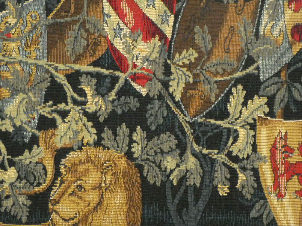 Close-up detail of William Morris Quest tapestry