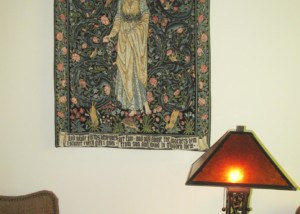 The Flora tapestry by William Morris woven in France