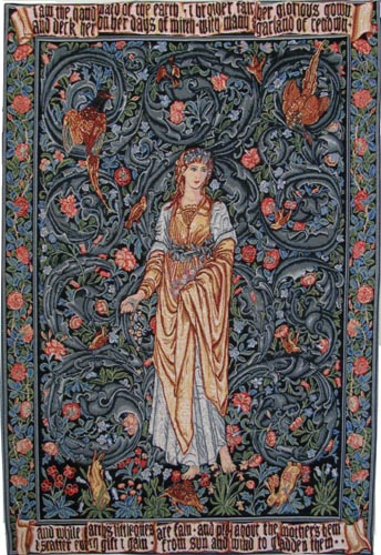 Flora tapestry by William Morris and Edward Burne-Jones from Arts and Crafts Tapestries