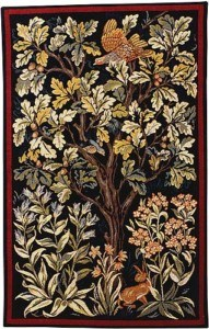 William Morris Grouse tapestry woven in France, from Arts and Crafts Tapestries