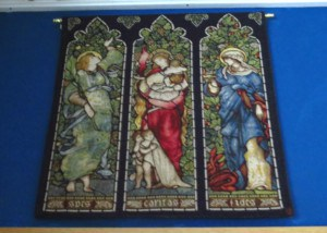 Faith, Hope, Charity tapestry - Spes, Caritas, Fides