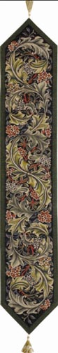 William Morris table runner, green