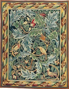 William Morris Birds tapestry, Les Oiseaux tapestry, woven in France from Arts & Crafts Tapestries