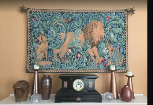 The Forest tapestry wall-hanging by Philip Webb