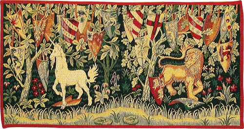 The Quest for the Holy Grail - small, from the Verdure with Deer and Shields tapestry