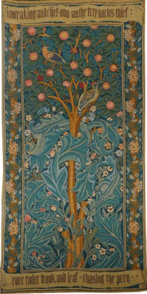 The Woodpecker Tapestry - William Morris wallhanging