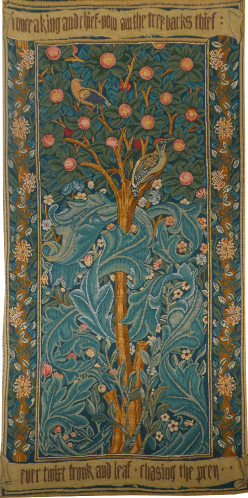 the woodpecker tapestry william morris wallhanging