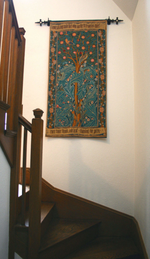 William Morris Woodpecker Tapestry is woven in France with or without the verse