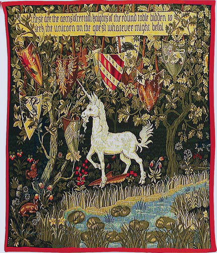The Quest - Unicorn tapestry - Verdure with Deer and Shields