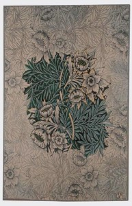 Willow tapestry, blue design by William Morris, woven in France from Arts & Crafts Tapestries