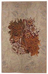 Willow tapestry, brown - a William Morris design