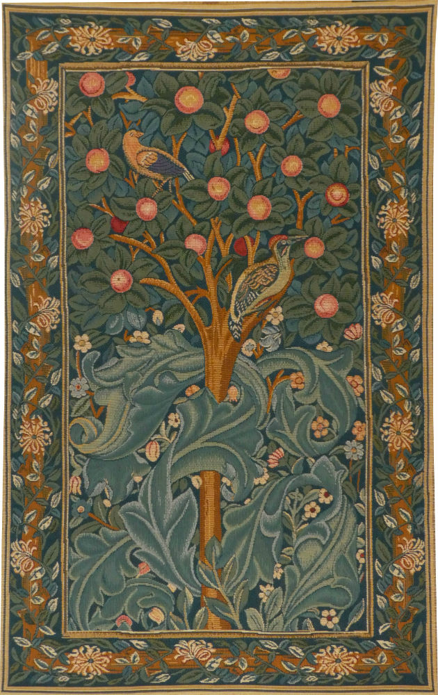 Woodpecker tapestry wallhanging - William Morris tapestries