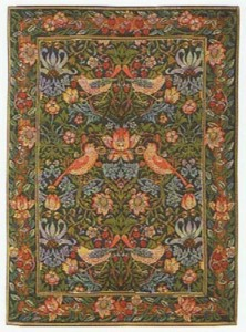 Strawberry Thief tapestry wallhanging, a chintz design by William Morris