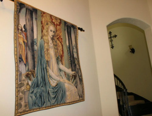 The Lady tapestry wallhanging