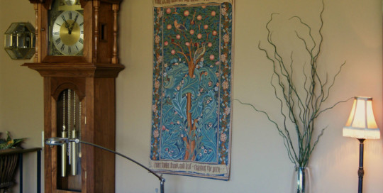 The Woodpecker tapestry is one of the most popular Arts & Crafts tapestries available today