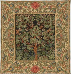 Soft Morris Tree of Life throw - French throws weave - William Morris