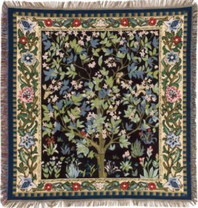William Morris Tree of Life throw - Tree of Life tapestry wallhanging