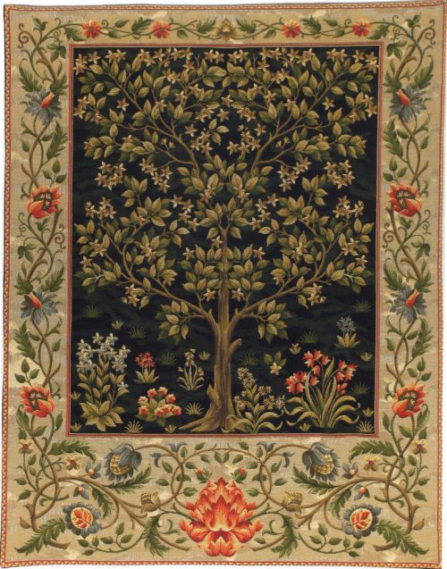 Black Tree of Life tapestry - Arts and Crafts wall tapestries