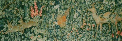 The Greenery tapestry with no border - John Henry Dearle tapestry