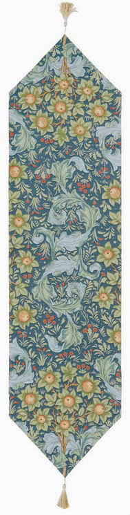 Orange Tree with Acanthus Leaves runner - Arts & Crafts