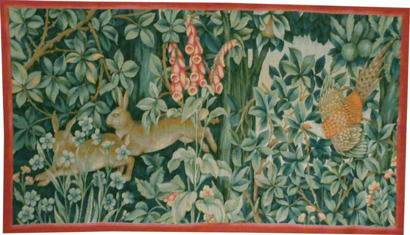 Greenery tapestry - left side - John Henry Dearle tapestries