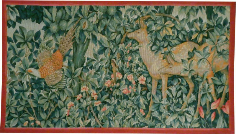 Greenery tapestry - right side - John Henry Dearle tapestries